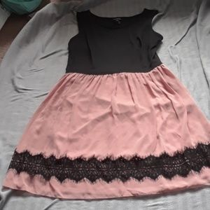 Size 12. Black and Pink dress